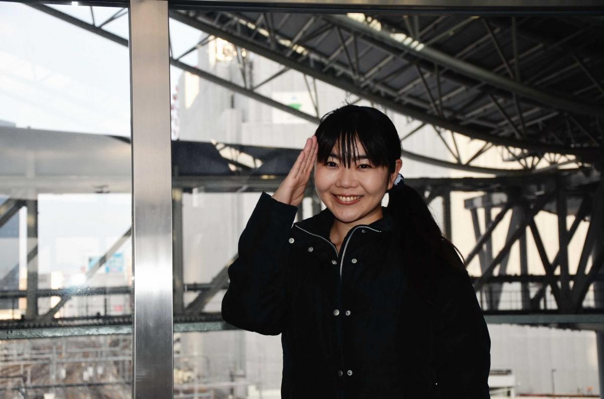 小倉沙耶さん大阪ステーションにて
